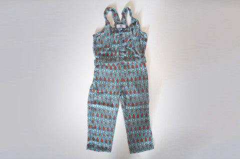 Orange and Turquoise Pippi Jumpsuit