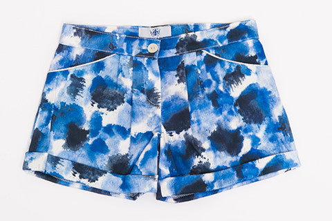 Blue Printed Zoe Short