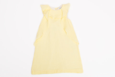 Victoria Yellow Linen Dress