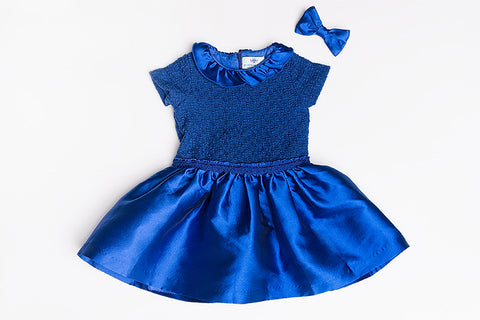 Blue Arianna Ruffle Dress