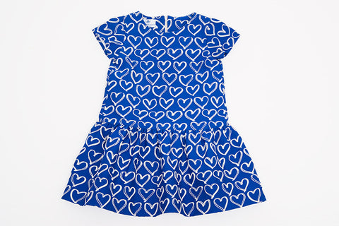 Blue Heart Madelyn Dress