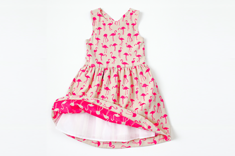 Tan Flamingo Dress