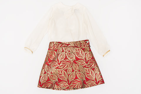Red Leaf Skirt