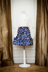 Blue Floral Zara Skirt
