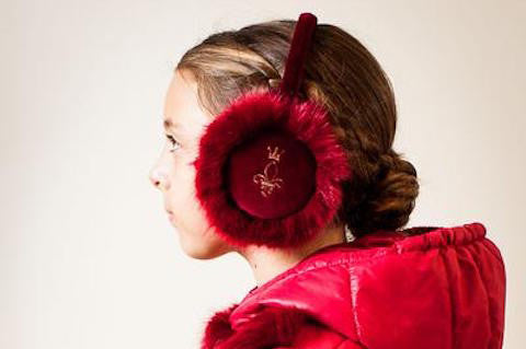 Red Fuzzy Ear Muffs