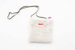 White Faux Fur Purse