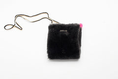 Brown Faux Fur Purse