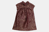 Burgundy Brocade Stella Dress
