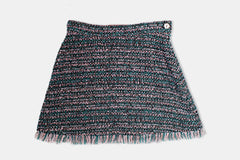 Pink and Green Tweed Coco Skirt