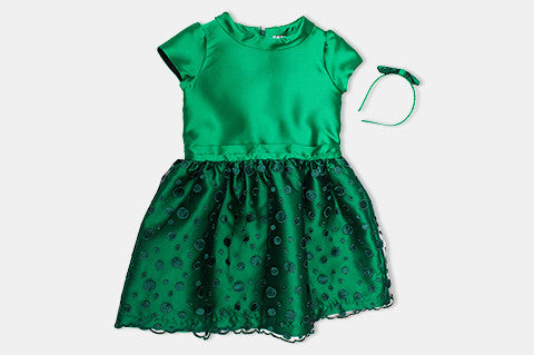 Green Silk Nancy Dress