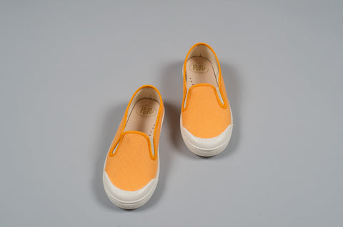 Orange Slip-On Sneakers