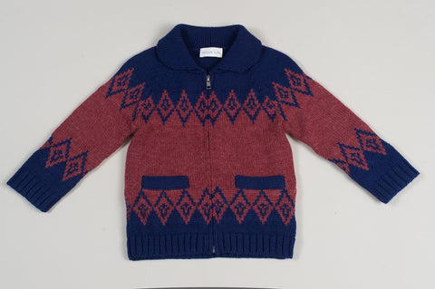 Blue Monte Block Cardigan