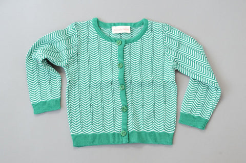 Green ZigZag Cardigan