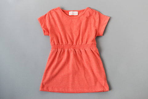 Orange Soft T-Shirt Dress