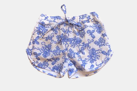 Blue Seashell Angie Shorts