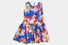 Elena, blue floral sleeveless dress