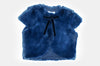 Navy Katherine Faux Fur Jacket