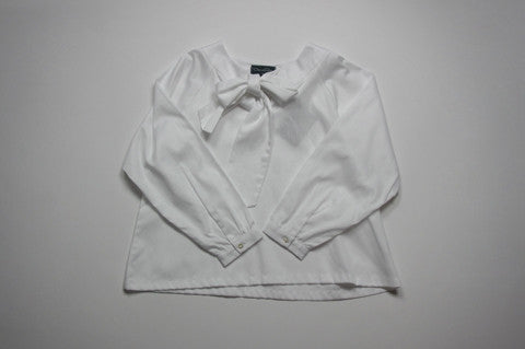 White Blouse with Neck Tie