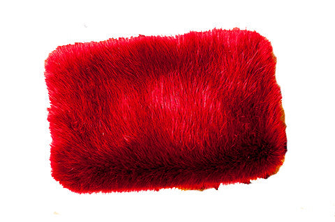 Red Fuzzy Hand Muff