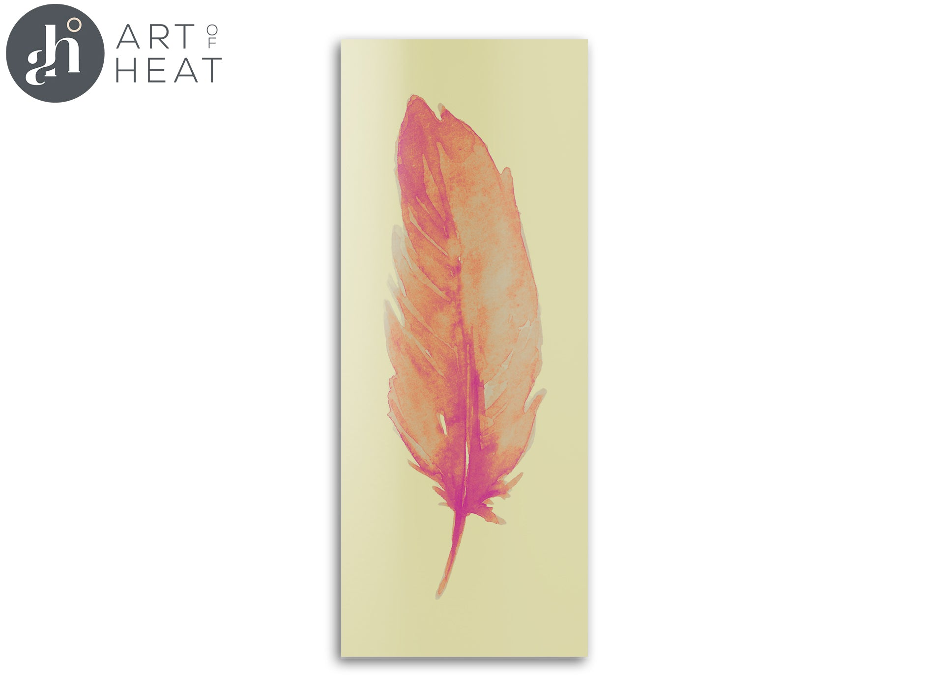 Berlin Pink Feather Panel - Price Includes Packaging & Delivery