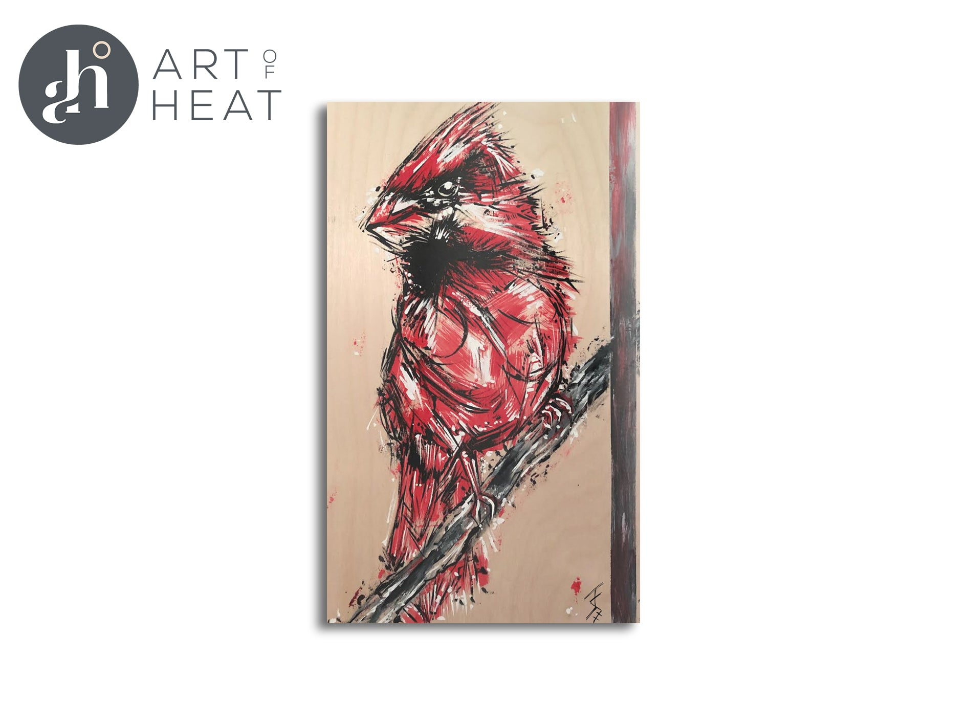 Limited Edition Young Cardinal Panels - Price Includes Packaging & Delivery