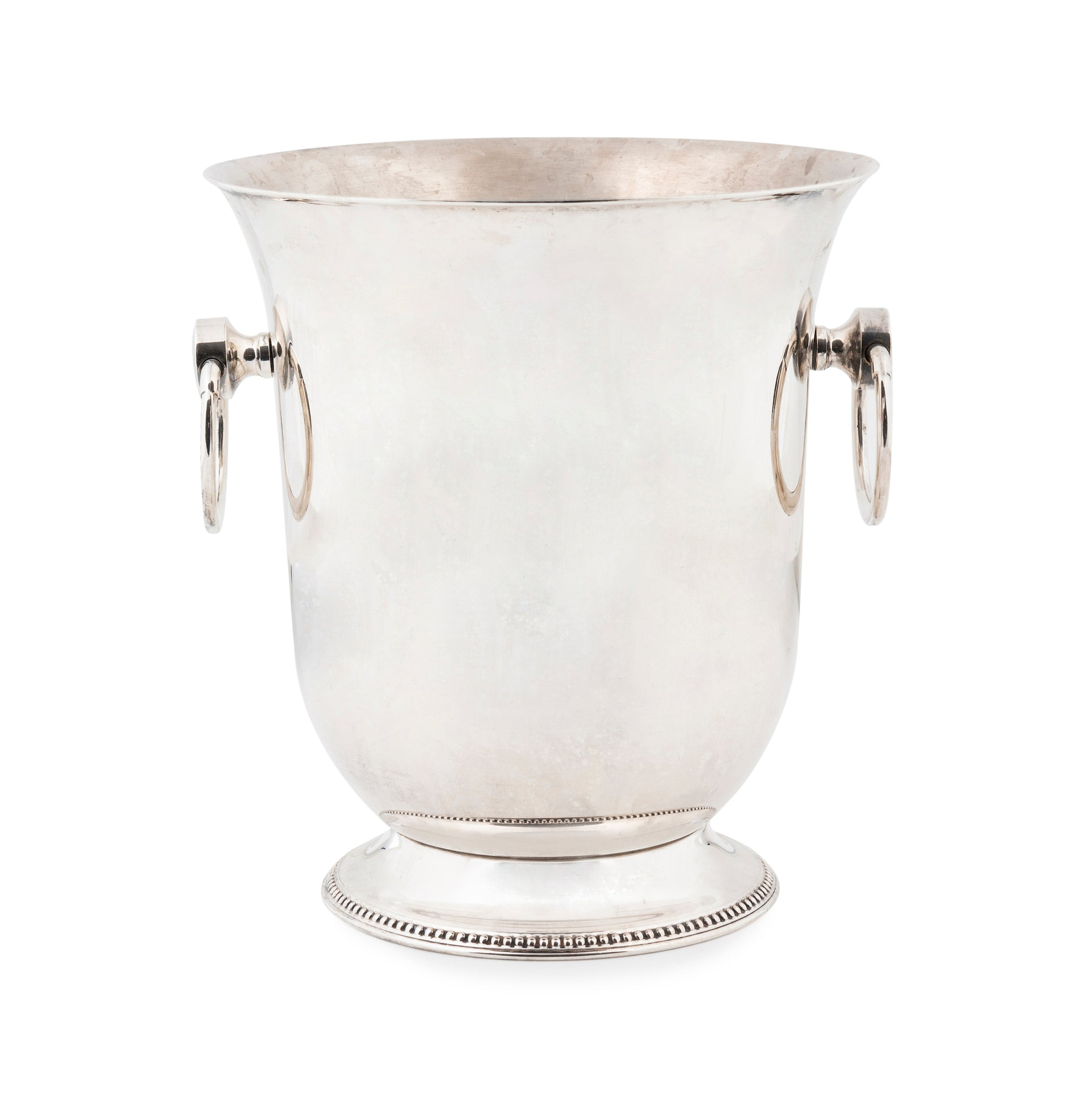 A French vintage silver plated twin handled wine cooler
