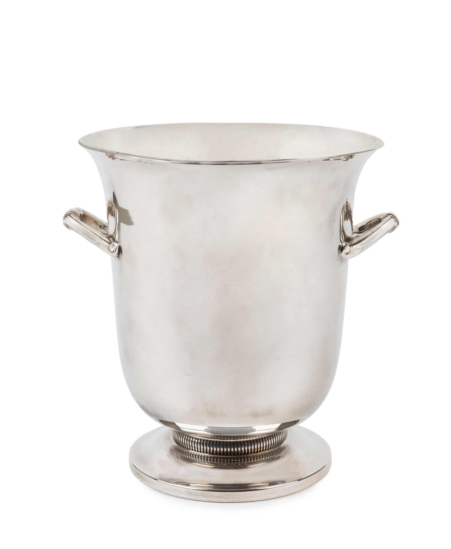 SOLD A French vintage silver plated twin handled wine cooler