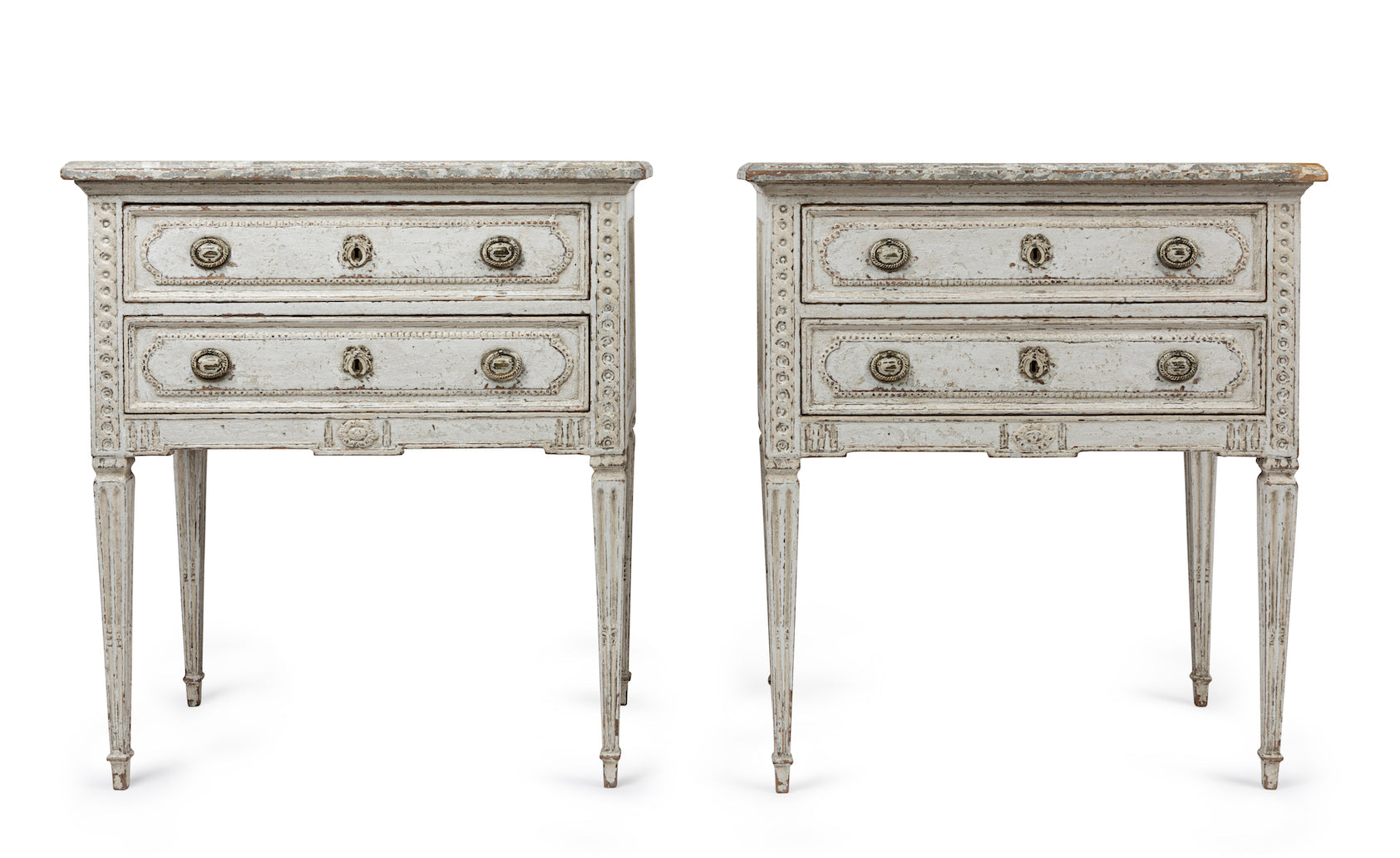 A fabulous pair of Louis XVI style commodes, French 19th Century