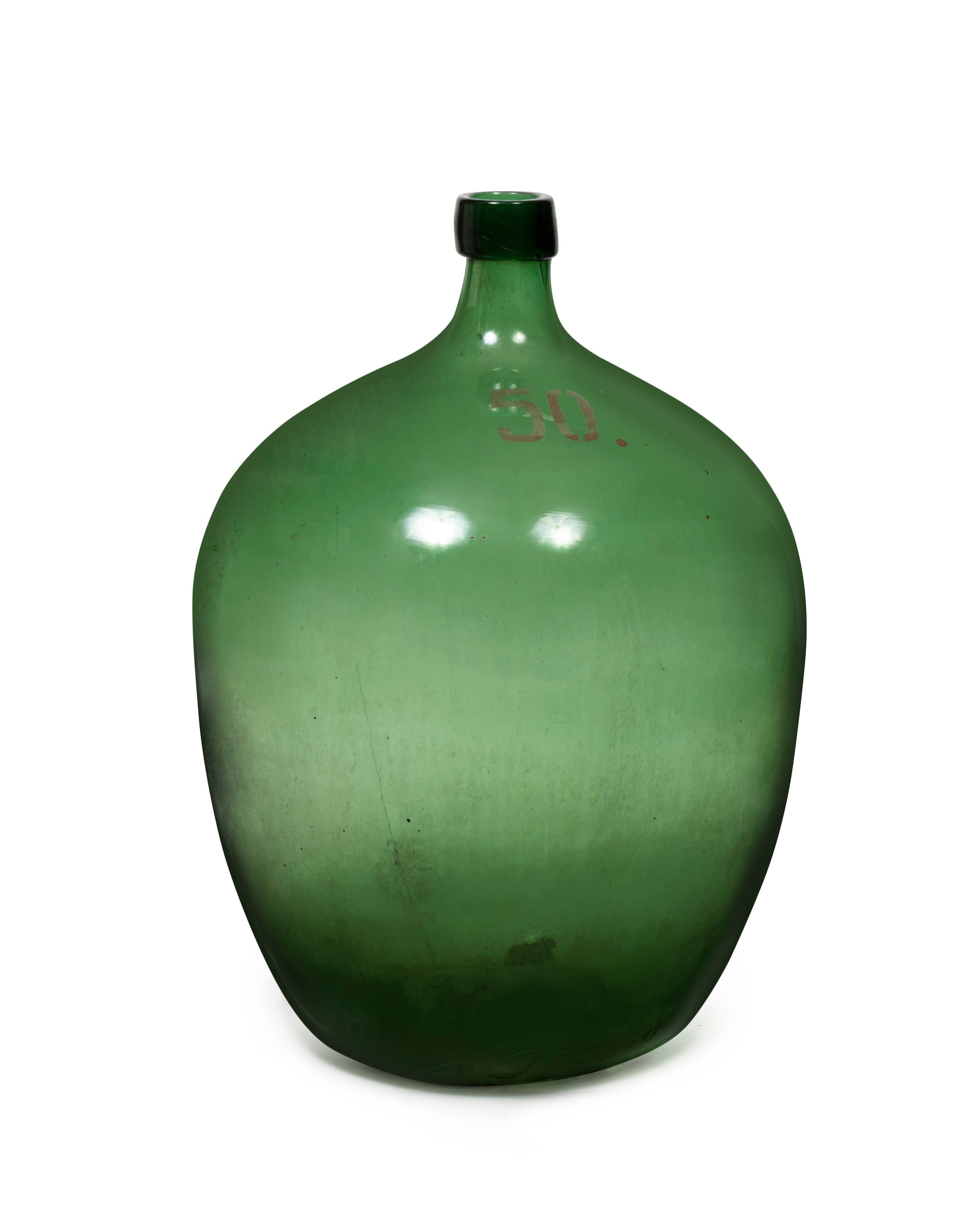 A good deep green glass demi-john , French Circa 1900