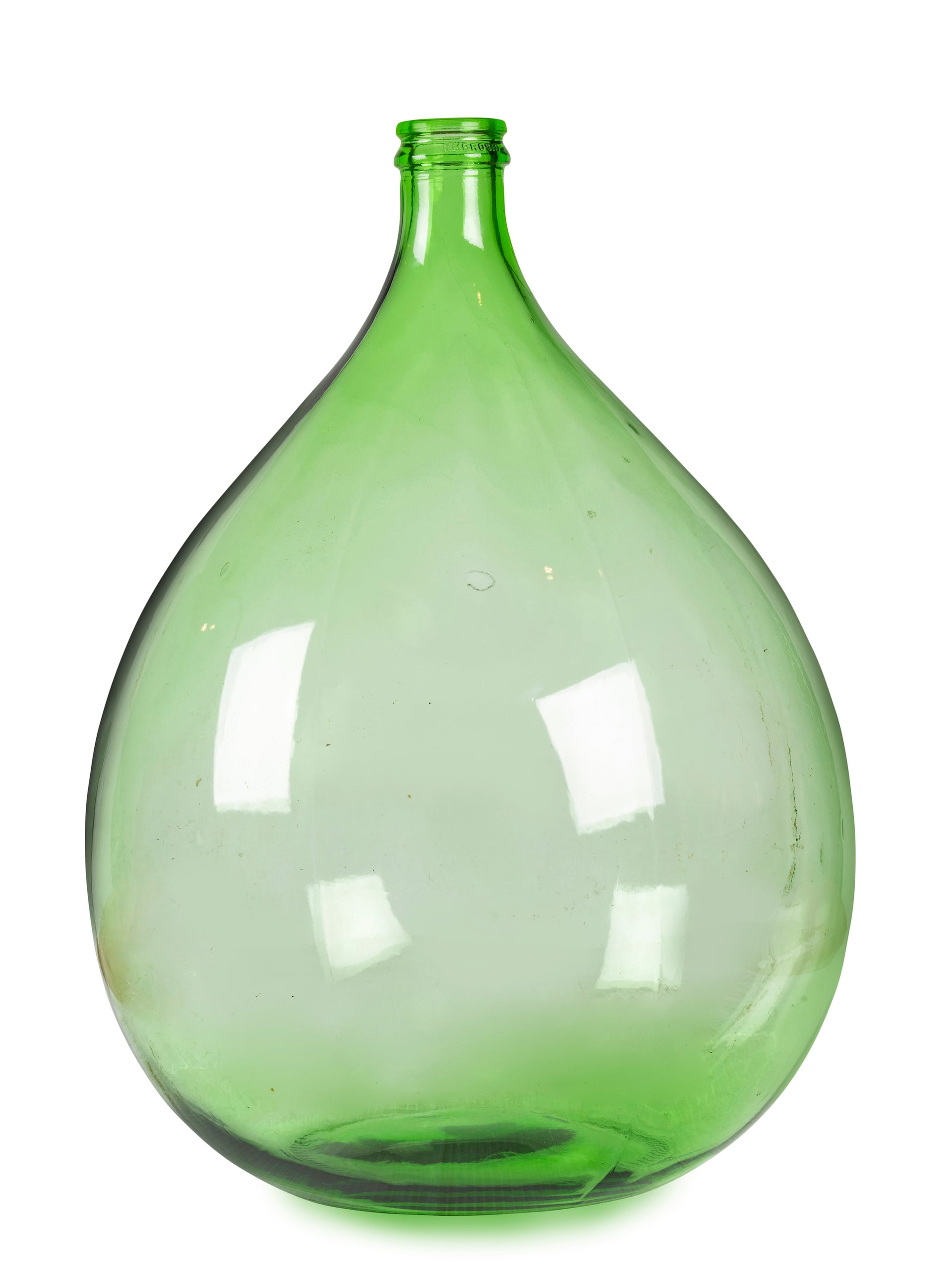 An Italian vintage green glass demi-john