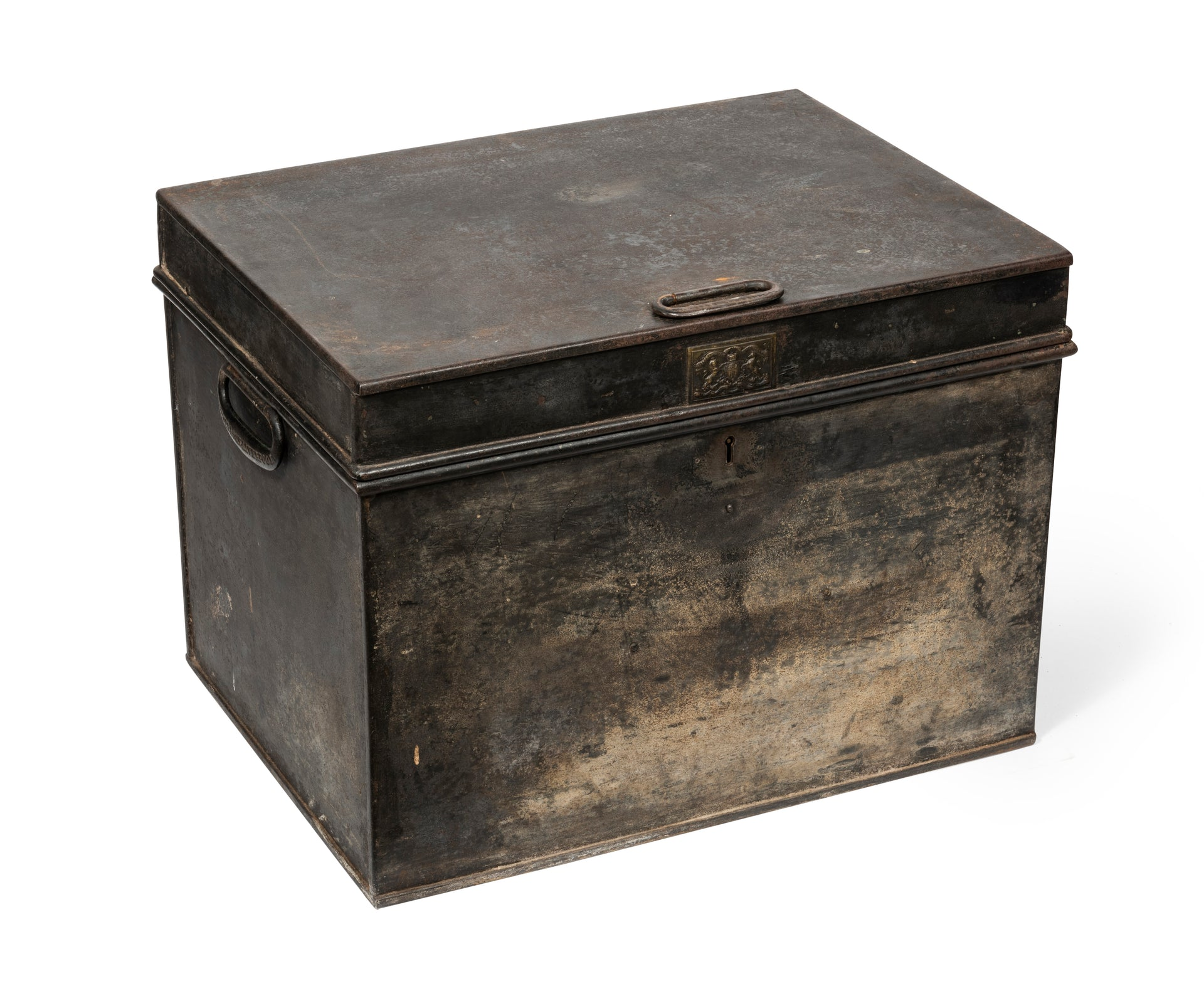 SOLD A metal safe box by Thomas Milner of London, English 19th Century