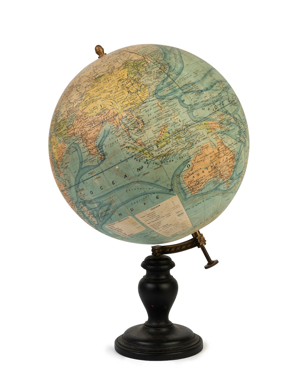 SOLD A very good quality terrestrial globe by J Forest for Girard and Berrere Paris Circa 1920