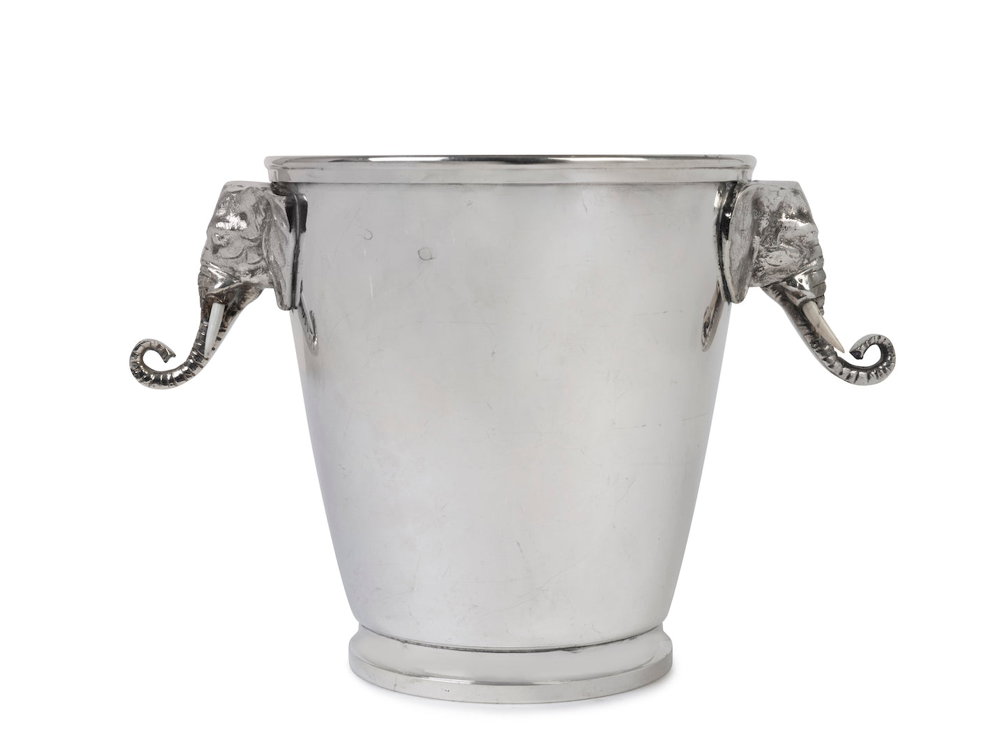 SOLD A good quality silver-plated elephant-head wine cooler, Italian Circa 1950