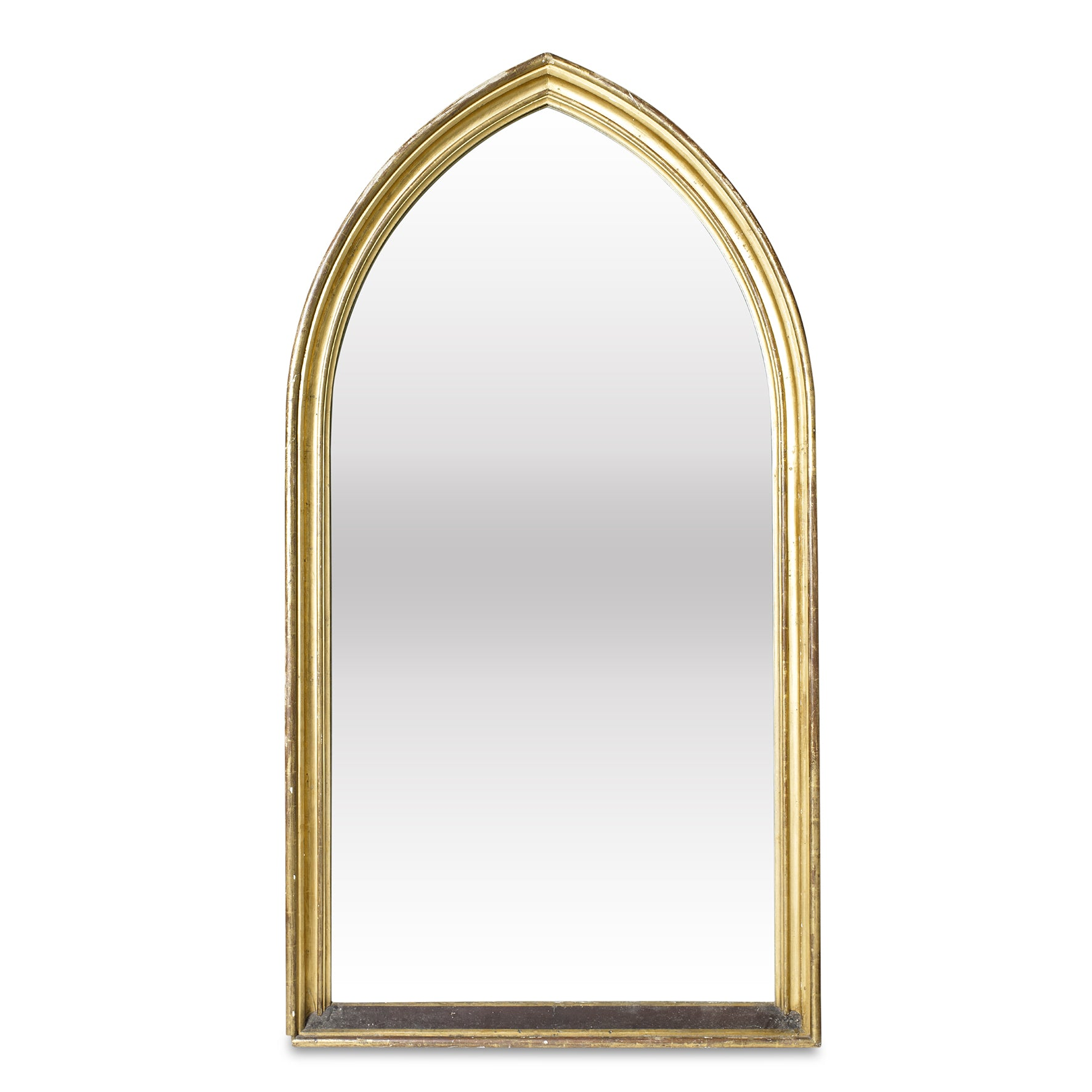An impressive gilt-wood arched wall mirror, English 19th Century