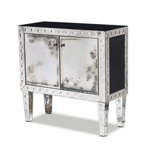 SOLD A fine quality mirrored and black glass etched cocktail cabinet, Italian Circa 1960