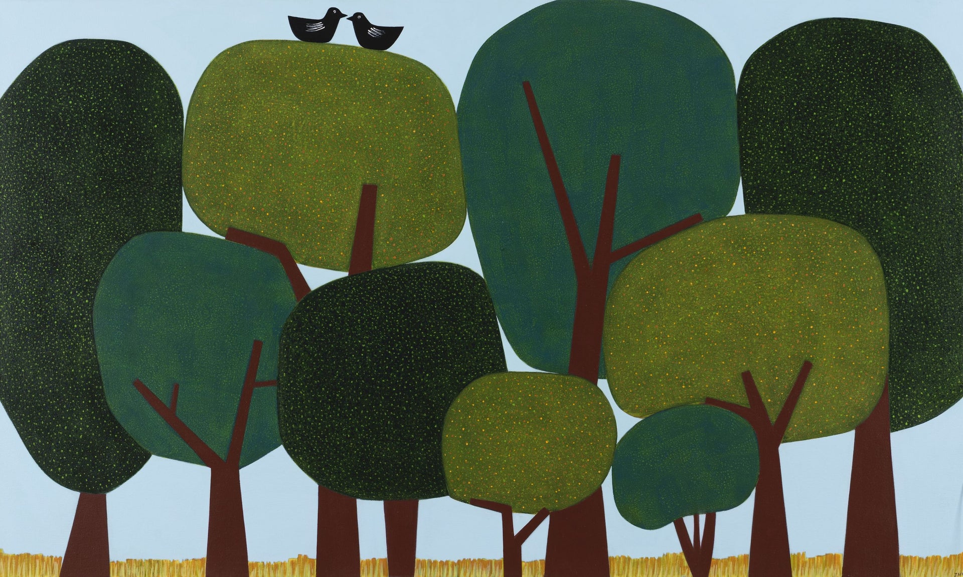 SOLD Jill Noble, Topiary Trees