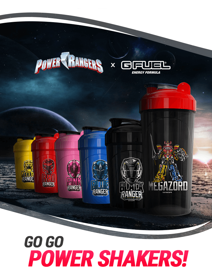 Power Rangers G FUEL Shakers