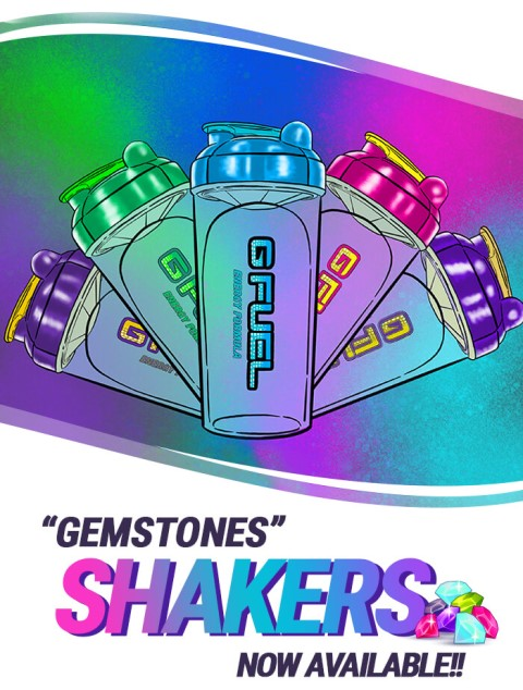 G FUEL Gemstone Shaker Cups are now available