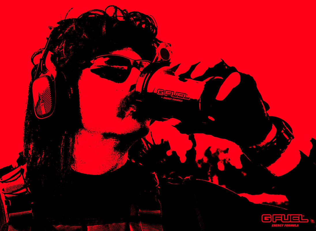 aca0a2b7 Dr. Disrespect's Black On Blackberry G FUEL Is Now Available!