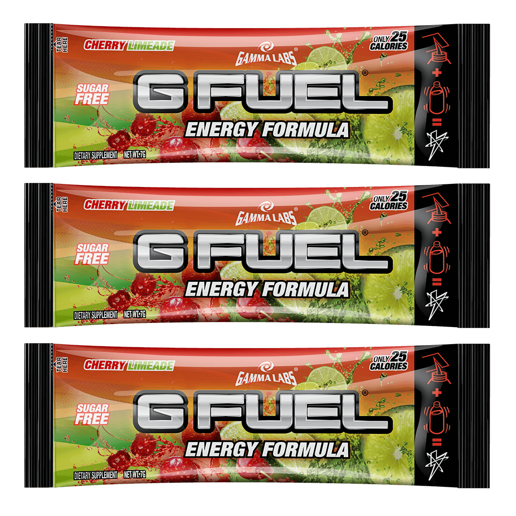 "G FUEL 3 Pack - ""Slime-Ade"" (Cherry Limeade)"