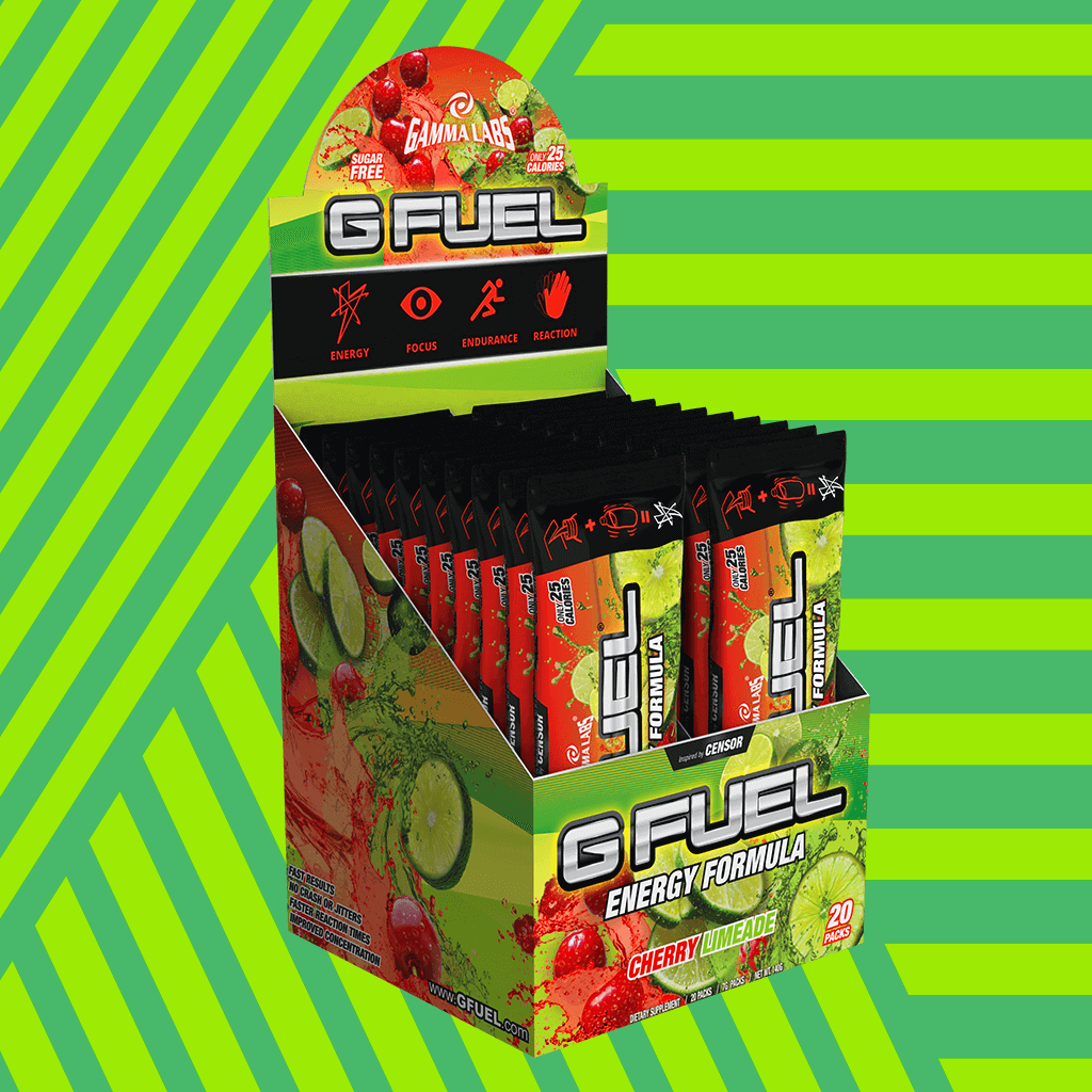 "G FUEL Box - ""Slime-Ade"" (Cherry Limeade)"