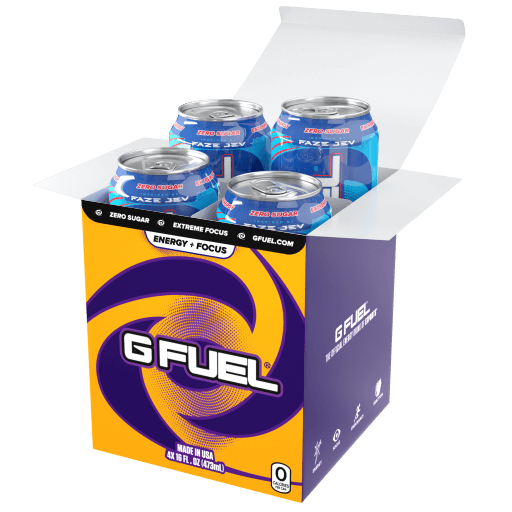 G FUEL| Ragin' Gummy Fish Bundle (Tub + Cans 4 Pack) Bundle (Cans)