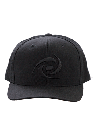Snapback Hat - Black Turbine Logo