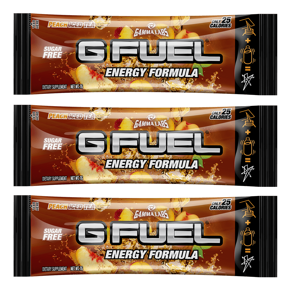 "G FUEL 3 Pack - ""Peach Panther Punch"" (Peach Iced Tea)"