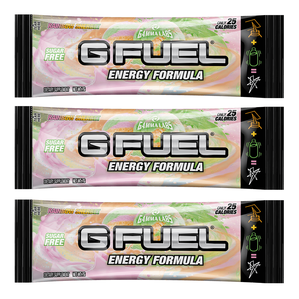 G FUEL| Rainbow Sherbet (3 Pack) Pack