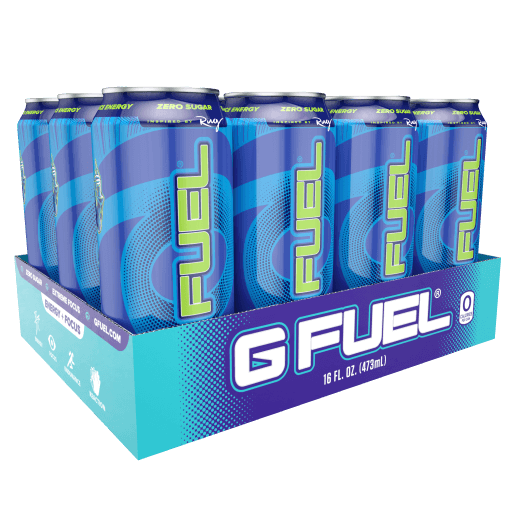G FUEL| Sour Blue Chug Rug Cans RTD 12 Pack RTD-CR12