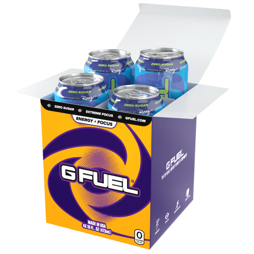 G FUEL| Sour Blue Chug Rug (Cans 4 Pack) RTD