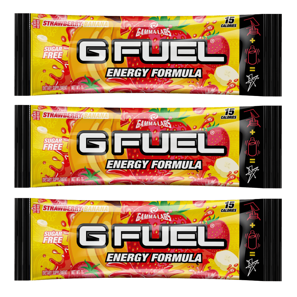 G FUEL| Strawberry Banana (3 Pack) Pack