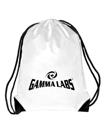 [Free Gift] Gamma Labs Drawstring Bag (White)