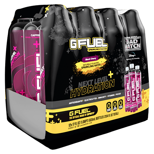 G FUEL| Black Cherry (Sparkling Hydration 12 Pack) RTD Hydration